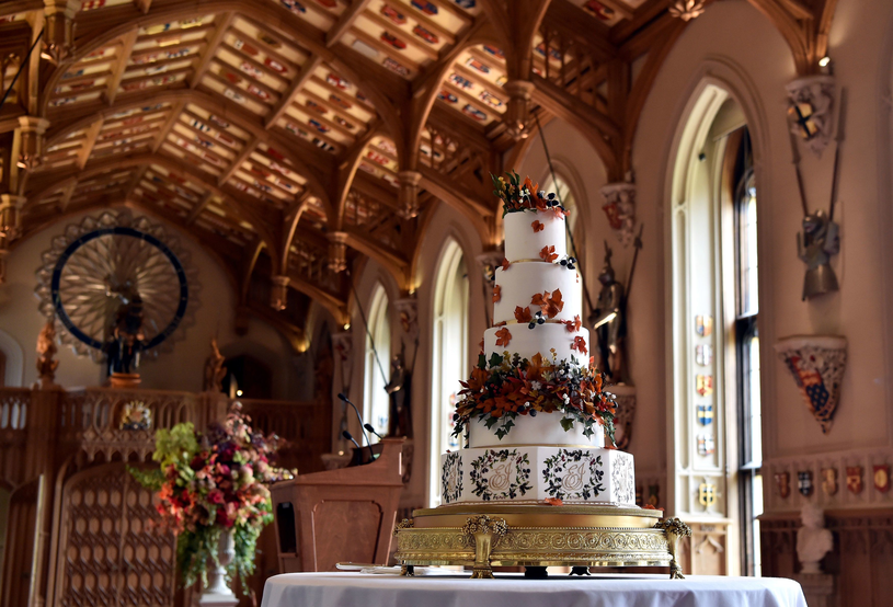 Tort weselny przygotowany przez Sophie Cabot /AFP
