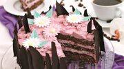 Tort z kremem  z czarnej porzeczki