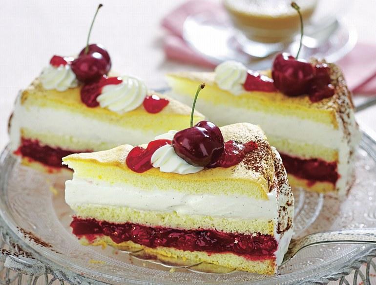Tort z wiśniami /Dobry Tydzień