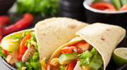 Tortilla z warzywami i pastą z bakłażana