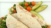 Tortilla z wołowiną i awokado
