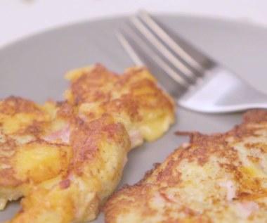 Tortitas de patata con queso y jamón