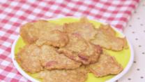 Tortitas de salchicha y cebolla