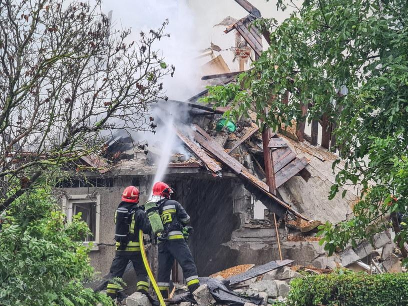 Toruń. Miejsce wybuchu domu przy ulicy Wybickiego /Paweł Skraba /PAP