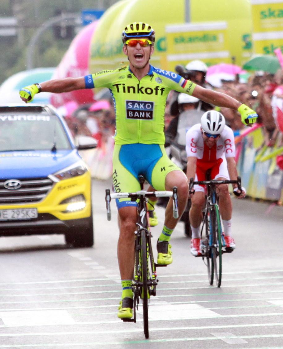 Tour de Pologne: Maciej Bodnar wygrał w Nowym Sączu /Grzegorz Momot /PAP