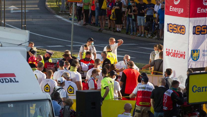 Tour de Pologne. Wypadek kolarza w okolicach Porąbki