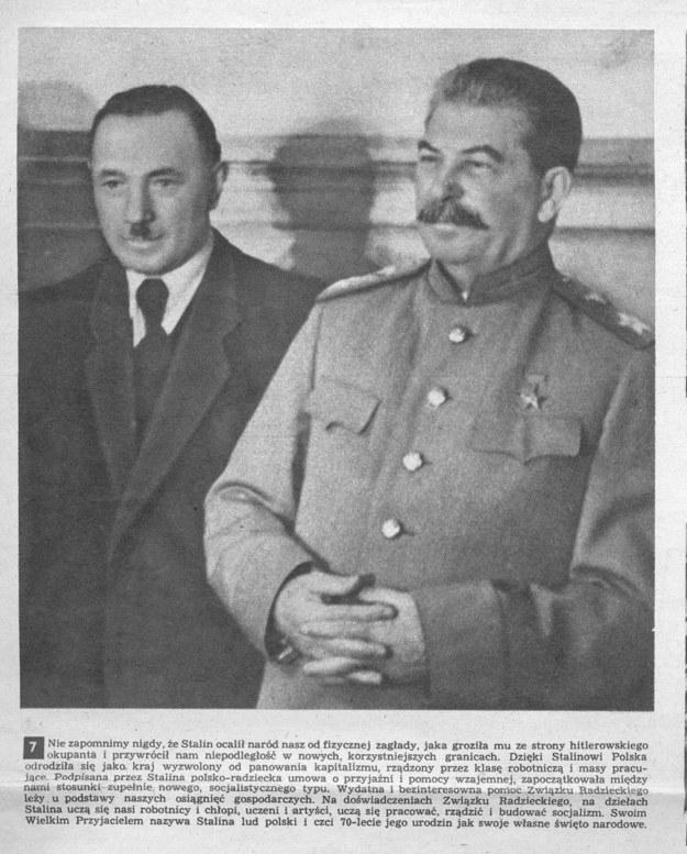 Tow. Tomasz i tow. Soso. Bolesław Bierut, agent NKWD wybrany na prezydenta Polski i Józef Stalin /FoKa /Agencja FORUM