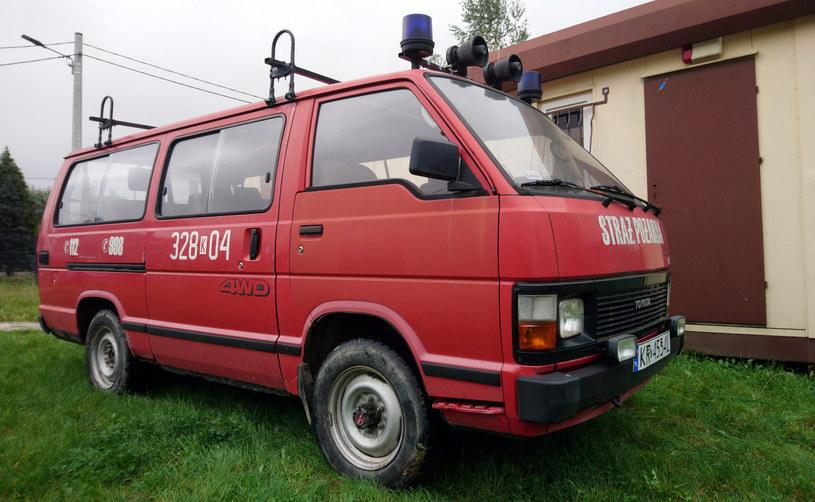 Toyota hiace III 4x4 ze zbiorów Muzeum Ratownictwa w Krakowie /Muzeum Ratownictwa w Krakowie