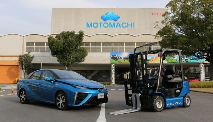 Toyota Mirai i wodorowy wózek widłowy /