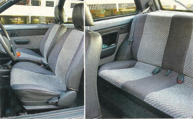 Toyotę Starlet lepiej traktować jako samochód dwuosobowy. Miejsca na nogi dla osób siedzących z tyłu jest bardzo mało, a zajęcie miejsca na kanapie przy trzydrzwiowym nadwoziu jest trudne. /Motor