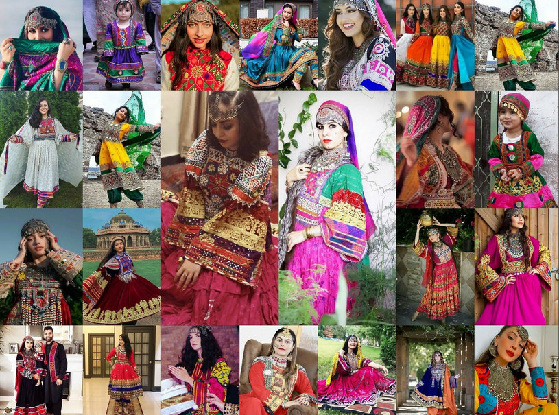 Tradycyjna moda w Afganistanie jest niezwykle barwna /Abaca/ABACA    /East News