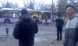 Tragedia na przystanku trolejbusowym w Doniecku