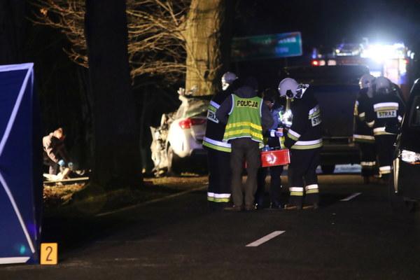 Do wypadku doszło na drodze wojewódzkiej z Opola do Prudnika.