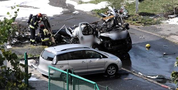 Tragedia w Warszawie: Na Bemowie eksplodował samochód przewożący butle z gazem