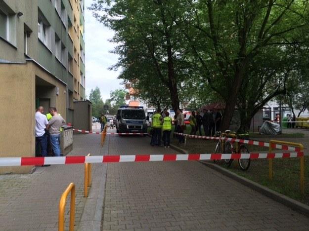 Tragedia wydarzyła się w bloku przy ul. Ślicznej we Wrocławiu /Barbara Zielińska /RMF FM