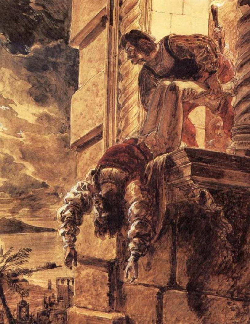 Tragiczny koniec niedoszłego króla, Andrzeja Andegaweńskiego. Obraz Karła Briułłowa (domena publiczna) /Ciekawostki Historyczne