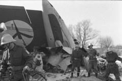 """Tragiczny lot """"Kopernika"""". Archiwalne zdjęcie z miejsca katastrofy"""