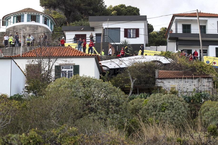 Tragiczny wypadek autobusu w Portugalii /HOMEM GOUVEIA  /PAP/EPA