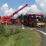 Tragiczny wypadek autokaru na Podkarpaciu. Kierowca został zatrzymany