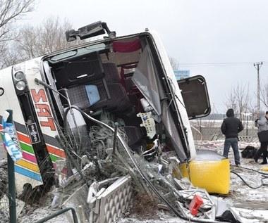 Tragiczny wypadek autokaru z kibicami Lechii Gdańsk