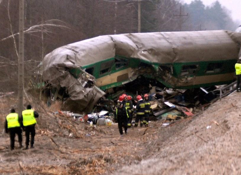 Tragiczny wypadek kolejowy pod Szczekocinami /Marek Lasyk  /Reporter