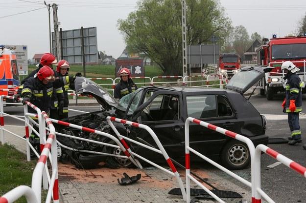 Tragiczny wypadek koło Nowego Targu /Michał Adamowski /Reporter