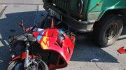 Tragiczny wypadek. Motocyklista uderzył w tarpana