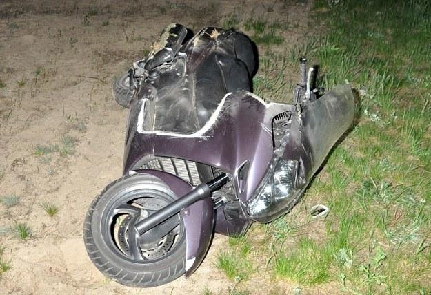 Tragiczny wypadek motocyklisty /KWP Białystok