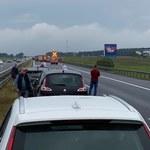 Tragiczny wypadek na A1. Ciężarówka zderzyła się z osobówką