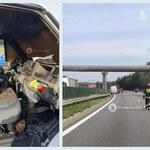 Tragiczny wypadek na A4. Kierowca i pasażerka wyskoczyli z płonącego samochodu