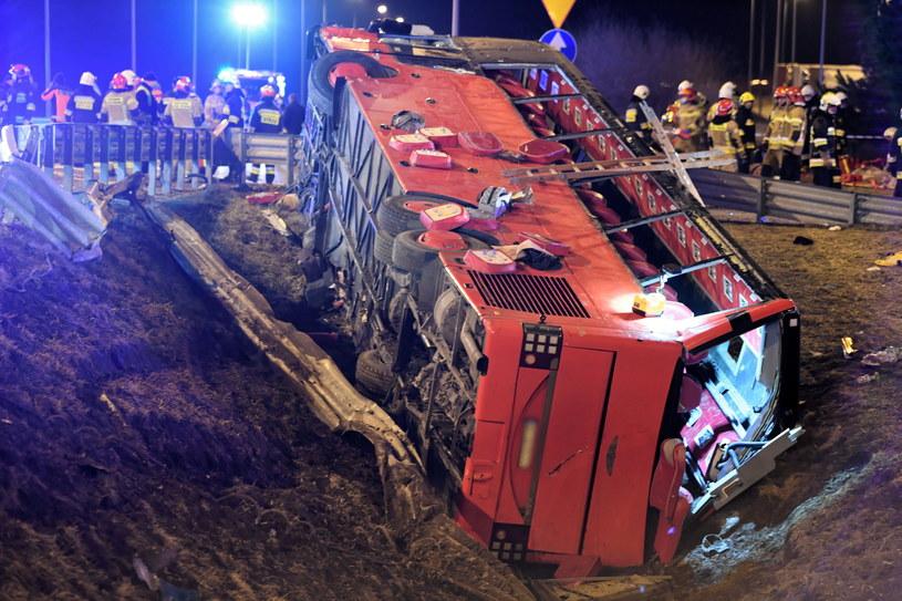 Tragiczny wypadek na A4 /Darek Delmanowicz /PAP