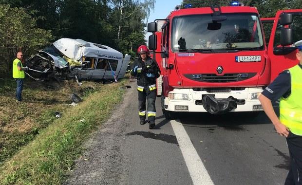 Tragiczny wypadek na Lubelszczyźnie. 15 osób w szpitalu