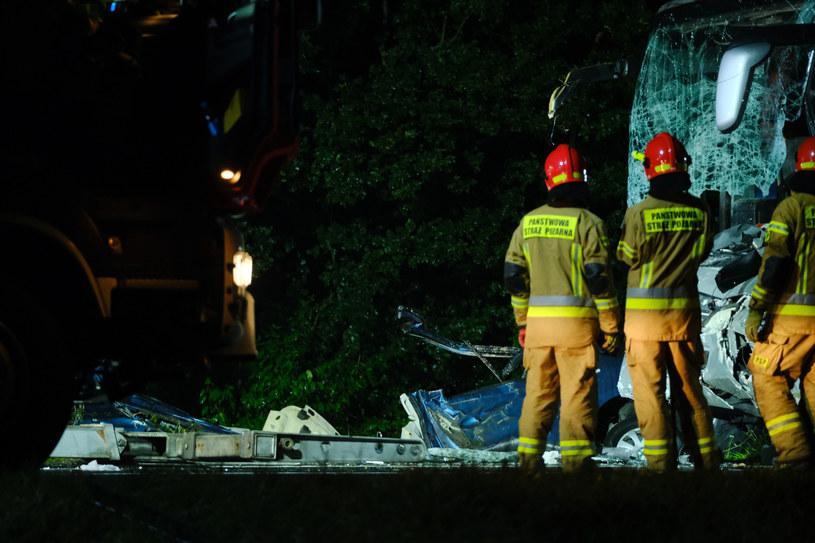 Tragiczny wypadek na trasie Kleszczów - Gliwice /KASIA ZAREMBA/AGENCJA SE /East News