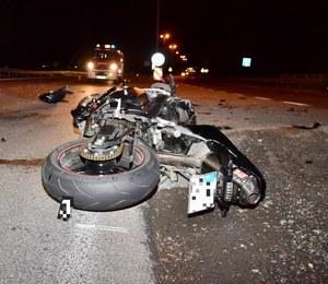 Tragiczny wypadek na zakopiance. Zginęła motocyklistka, kierowca auta bez uprawnień