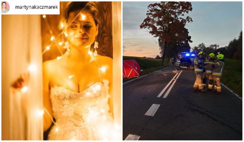 tragiczny wypadek po weselu Martyny Kaczmarek, fot. twitter @kmpolsztyn /Instagram