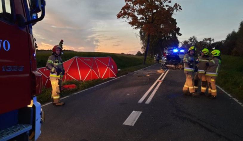 tragiczny wypadek samochodowy, fot. Twitter @kmpolsztyn /Twitter
