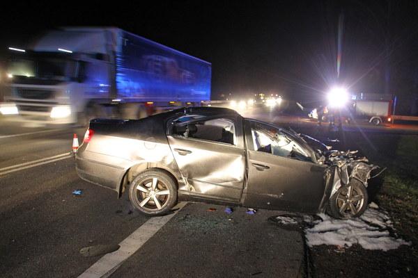 Miejsce tragicznego wypadku na drodze krajowej nr 7 w miejscowości Kiezmark.