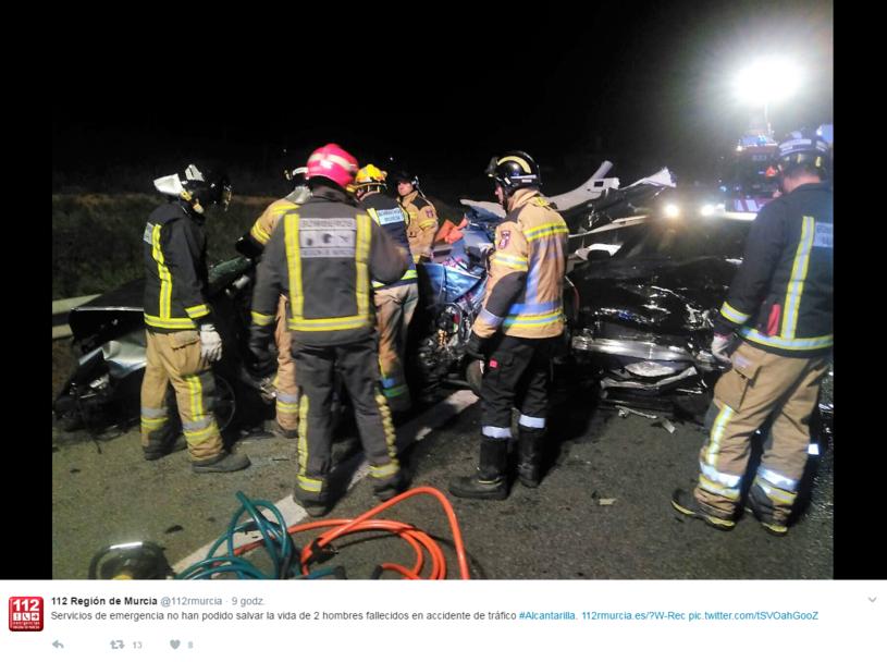 Tragiczny wypadek, w którym zginęła trójka Polaków /Twitter