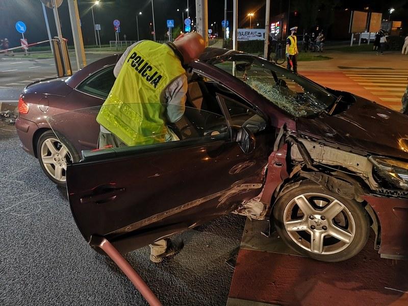 tragiczny wypadek w Lesznie /Policja