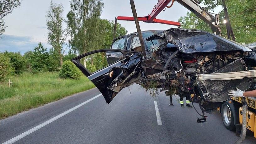 Tragiczny wypadek w okolicach Zgorzelca /Straż Pożarna Zgorzelec /