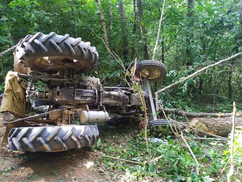 Traktor przygniótł mężczyznę /Policja Podkarpacka /Policja