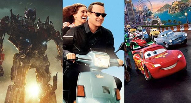 """""""Transformers 3"""" (L) i """"Larry Crowne"""" (C) w kinach od piątku, """"Auta 2"""" (P) można oglądać od środy /materiały dystrybutora"""