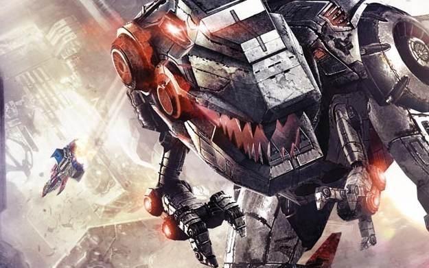 Transformers: Fall of Cybertron - motyw graficzny /Informacja prasowa