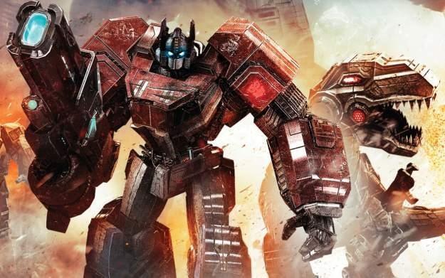 Transformers: Upadek Cybertronu - motyw graficzny /Informacja prasowa