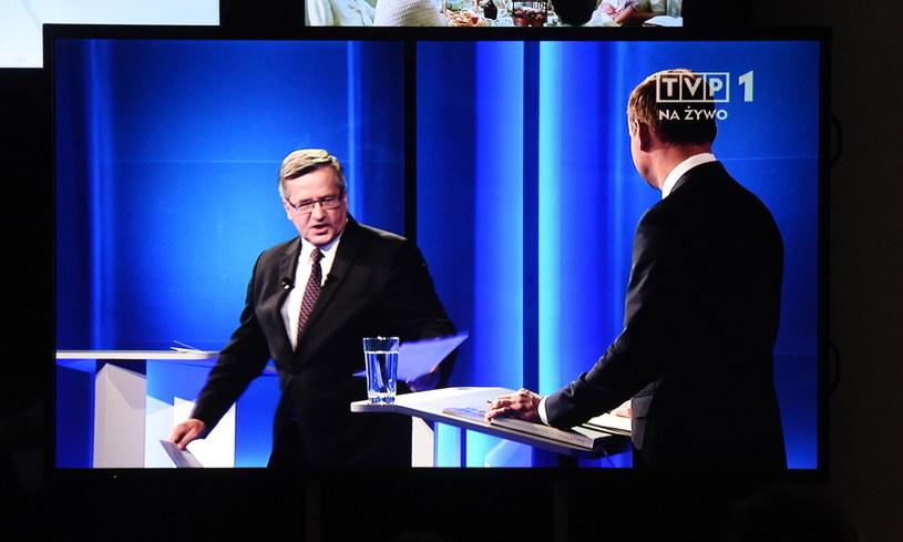 Transmisja debaty prezydenckiej z udziałem Bronisława Komorowskiego i Andrzeja Dudy /Radek Pietruszka /PAP