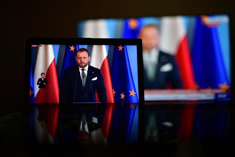 Transmisja konferencji prasowej ministra zdrowia Łukasz Szumowskiego / Marcin Obara  /PAP