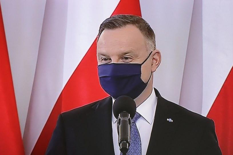 Transmisja uroczystości z okazji Święta Konstytucji 3 Maja w Pałacu Prezydenckim w Warszawie /Paweł Supernak /PAP