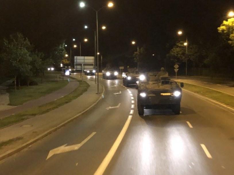 Transport wojsk na wschodnie poligony /Mariusz Błaszczak /Twitter