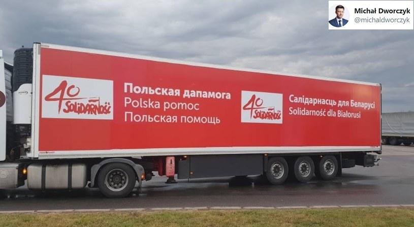 Transport żywności na Białoruś /Twitter