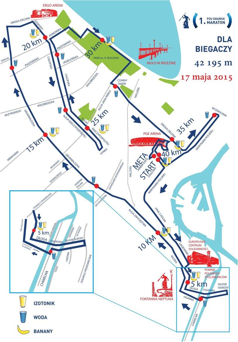 Trasa 1. PZU Gdańsk Maratonu /Informacja prasowa